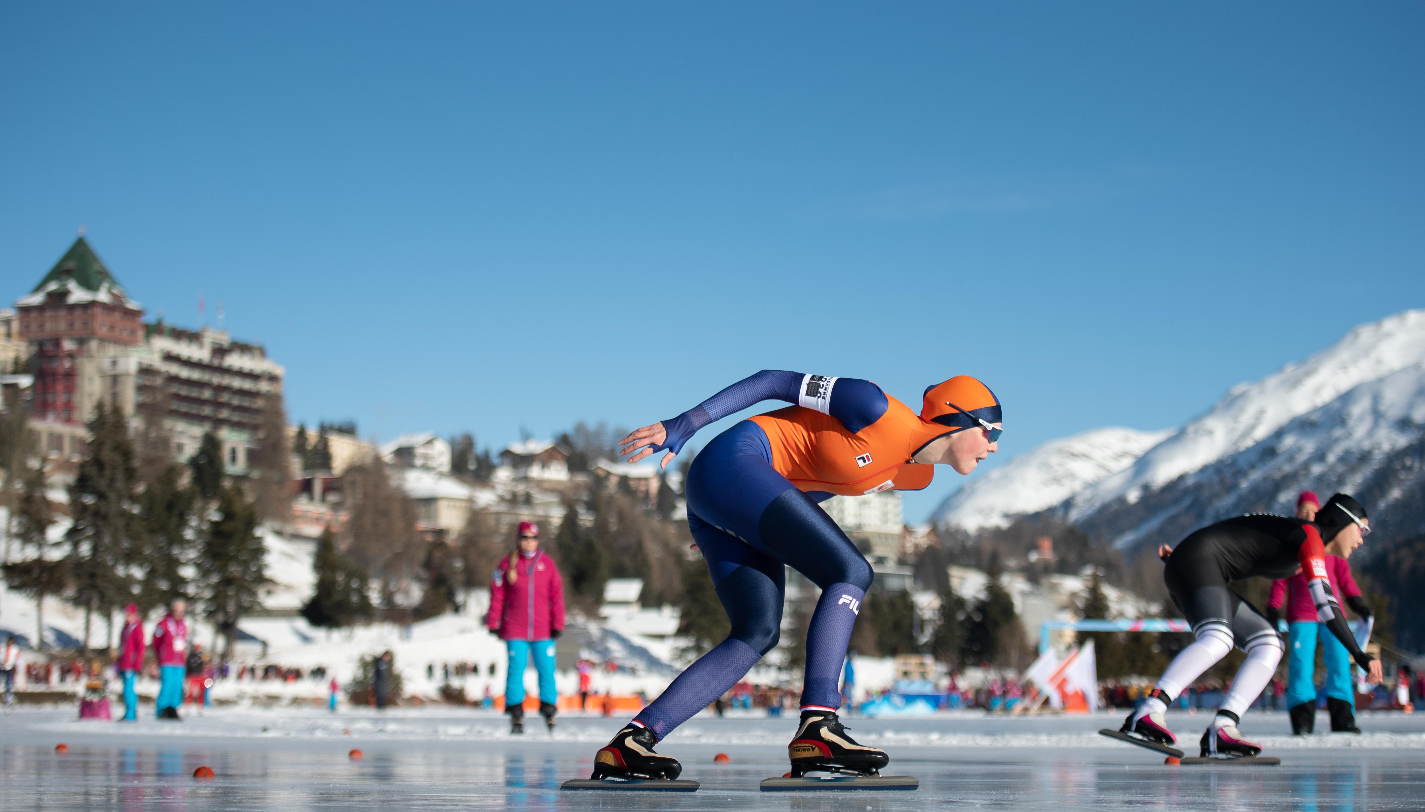 De Boer op de prachtige baan in St Moritz (Foto: OIS/Thomas Lovelock)