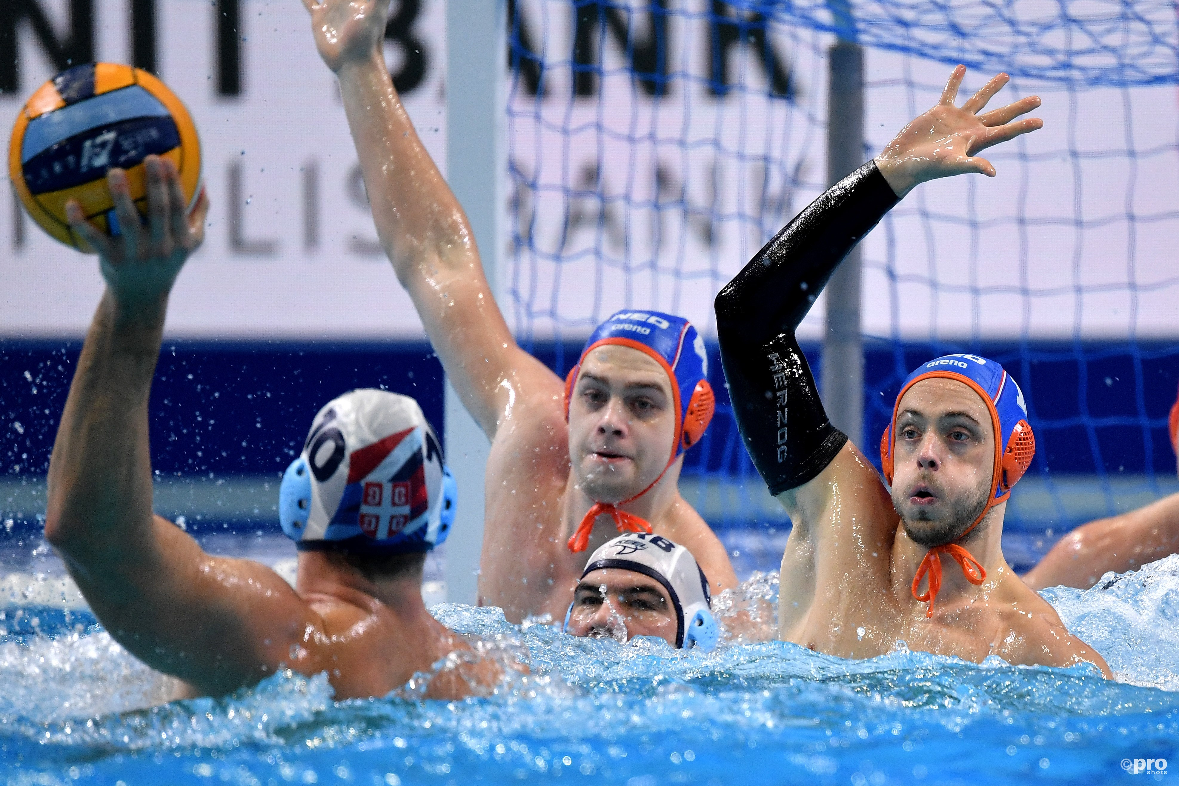 Waterpoloërs uitgeschakeld op EK na nederlaag tegen Servië (Pro Shots / Insidefoto)