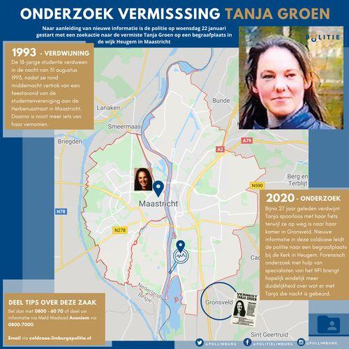 Meer info over de verdwijning van Tanja Groen (Afbeelding: politie)