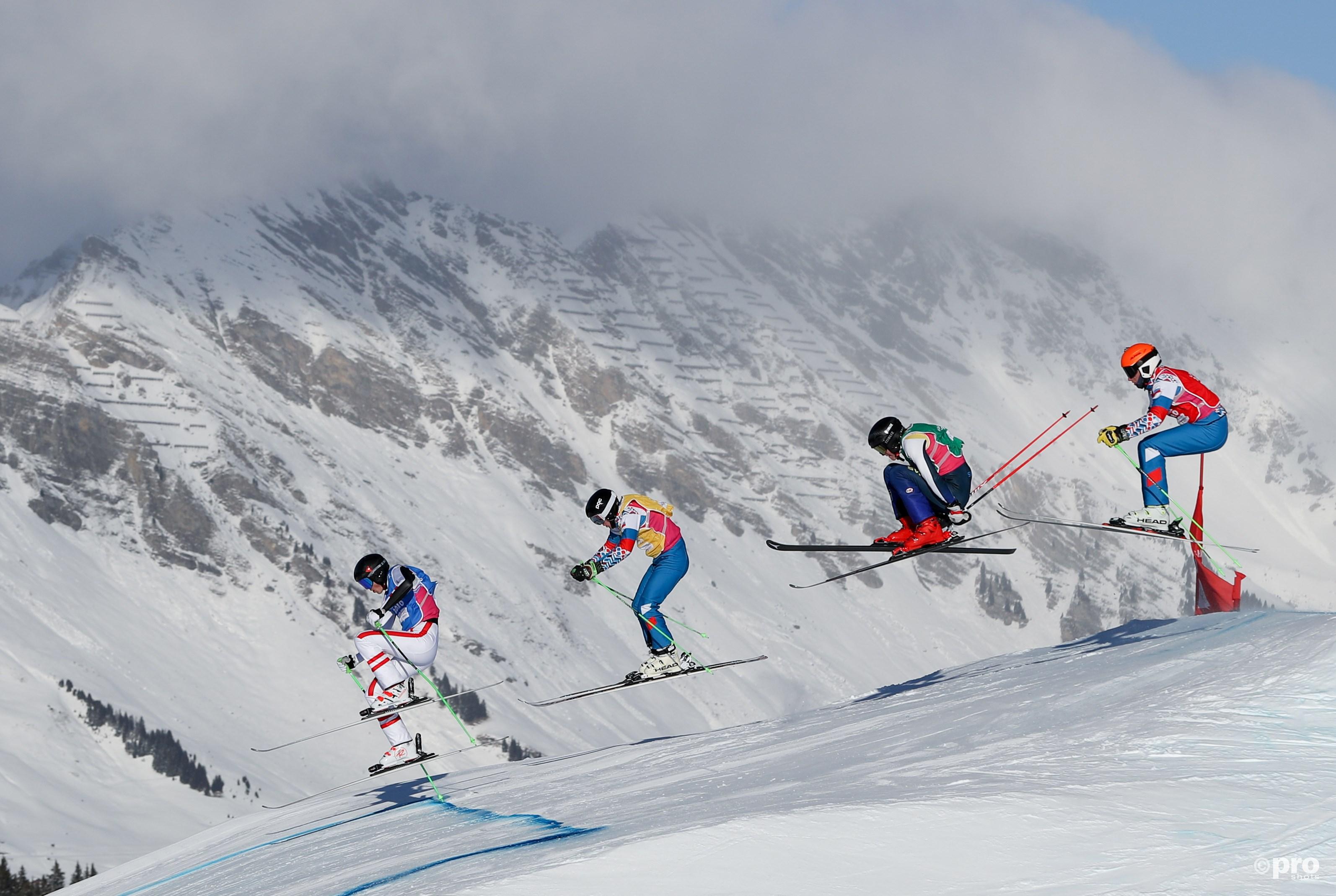 De mannenfinale op de ski's in volle gang (Pro Shots/Action Images)