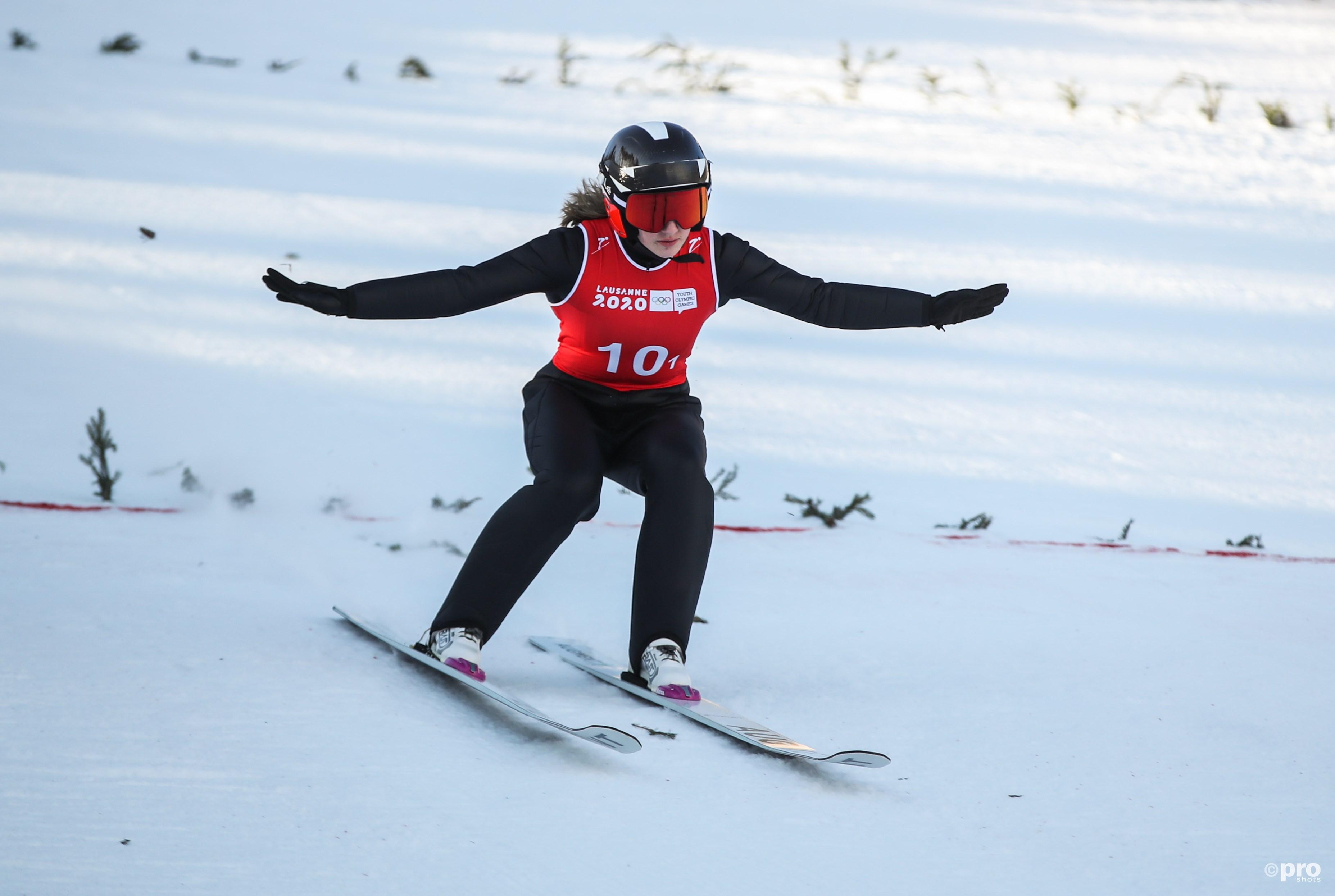 Lisa Hirner landt na een sprong (Pro Shots/Zuma Press)