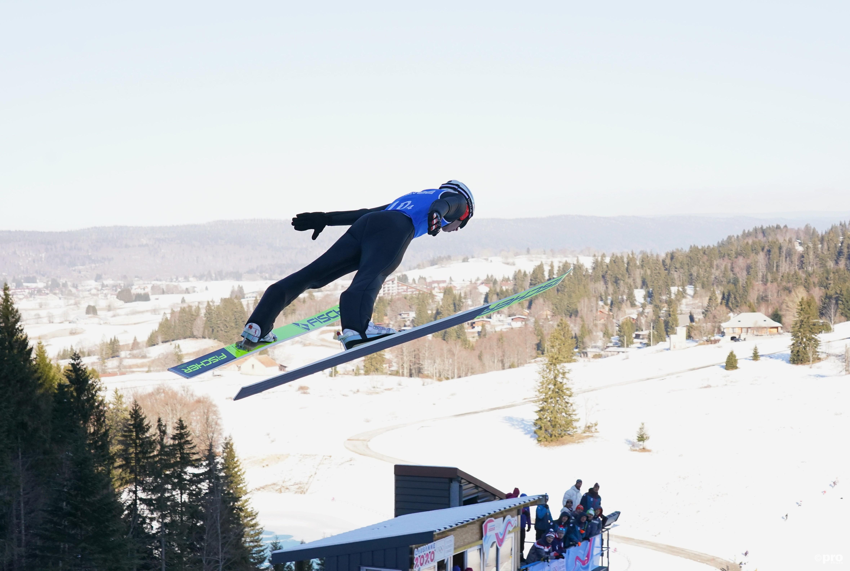 Wörgötter springt naar goud in Les Rousses in Frankrijk, waar de noordse sporten gehouden worden (Pro Shots/SIPA USA)