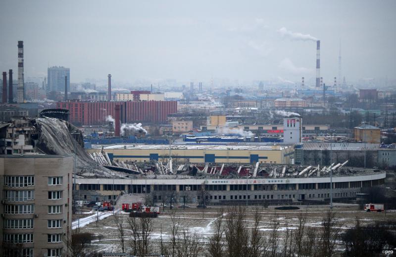 De restanten van het stadion (Pro Shots / SIPA USA)