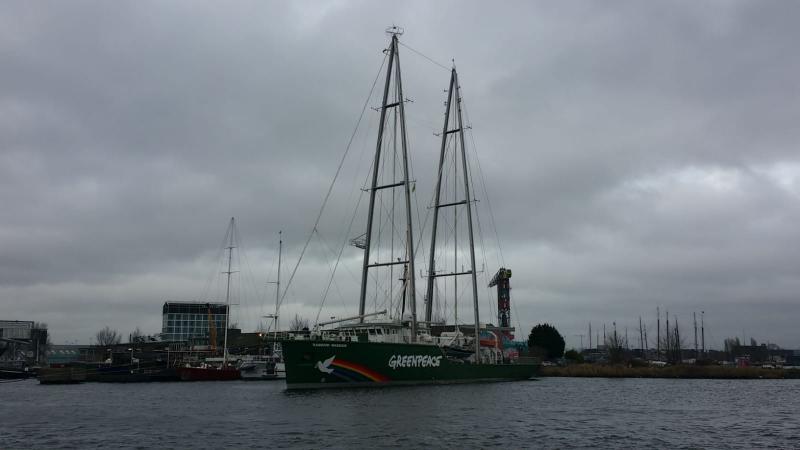 Een boot in Amsterdam (Foto: Interpretatie)