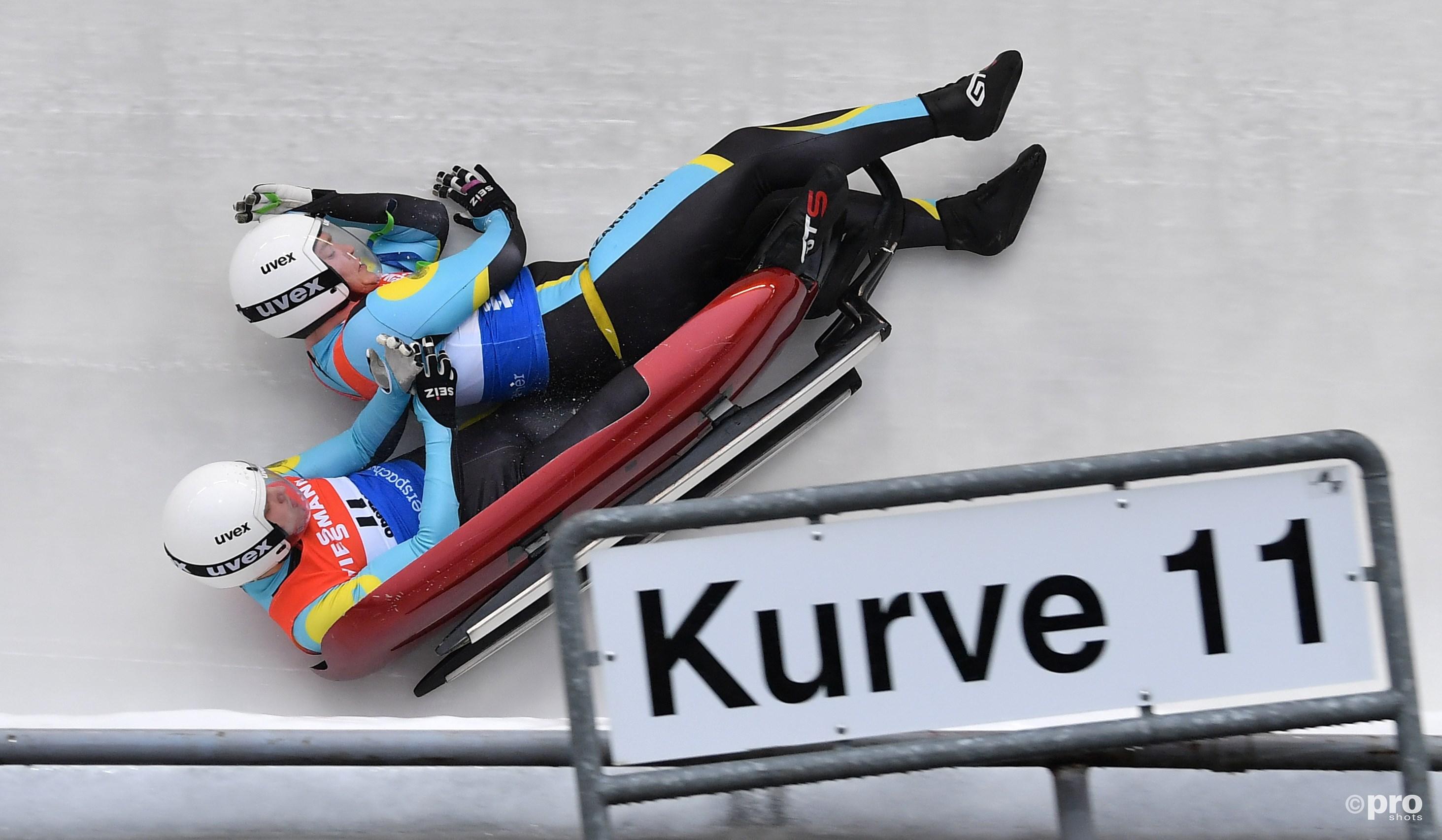 Voor Andrey Shander en Semen Mikov uit Kazachstan ging het in de estafette niet zo lekker (Pro Shots/Zuma Press)