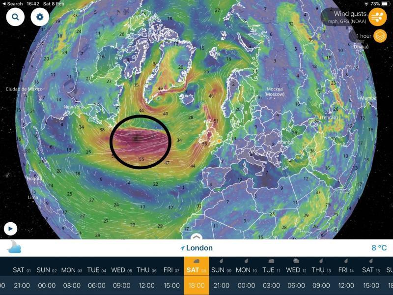 Storm Ciara (Foto: satelliet)