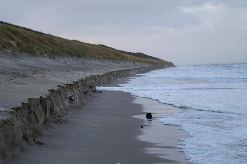 Storm op zee bij De kop van Schouwen (Foto: Scherpschutter)