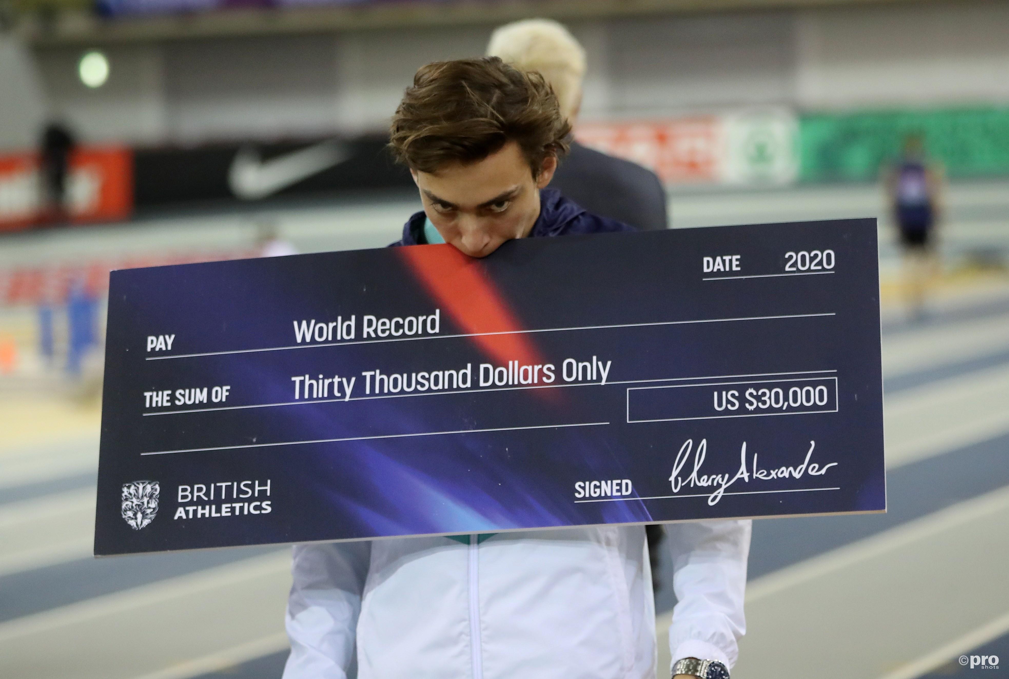 Polsstokhoogspringer Duplantis verbetert wereldrecord opnieuw (Pro Shots / Action Images)
