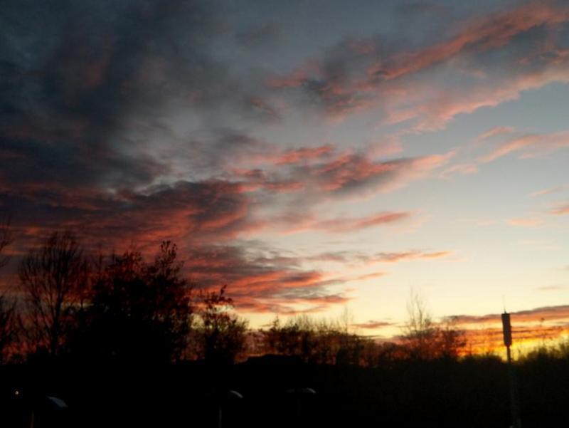 Zonsondergang in Berlijn (Foto: vriend van qltel)