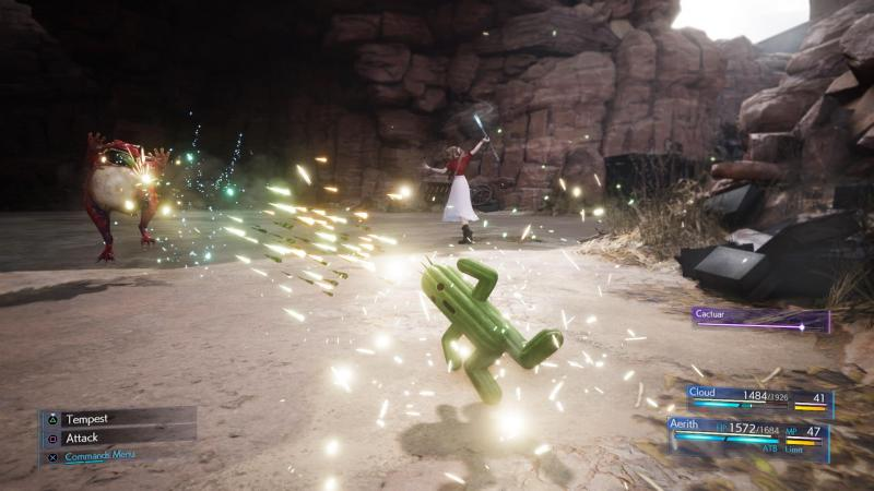 Final Fantasy VII Remake - Cactus (Foto: Square Enix)