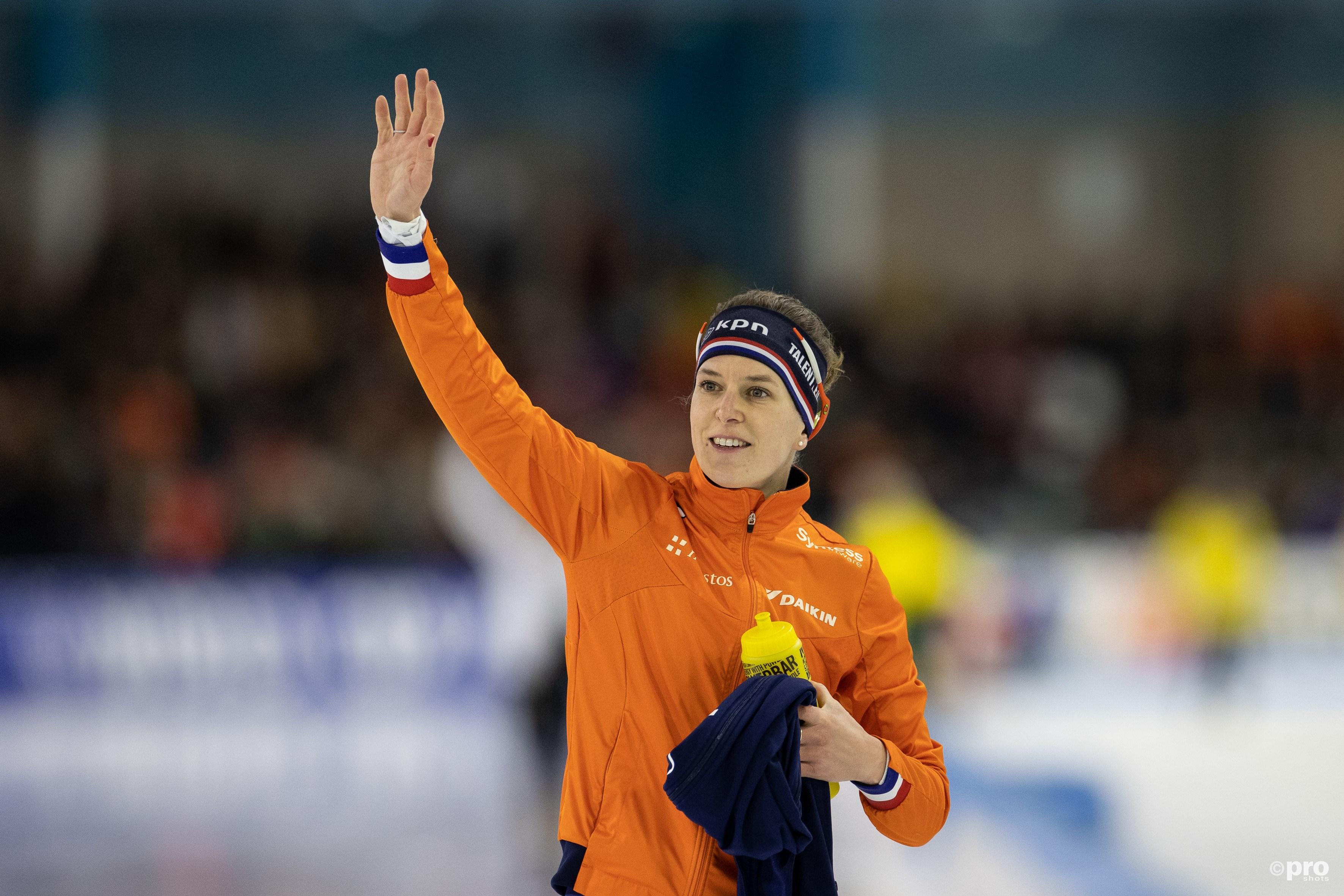 Wüst wint wereldbeker op de 1500 meter. (PRO SHOTS/Ron Baltus)