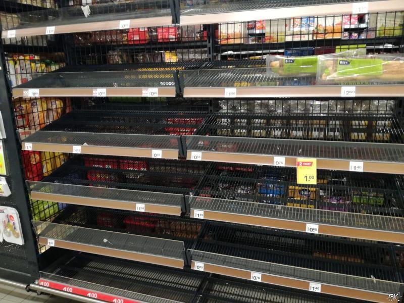 Idioten in supermarkt