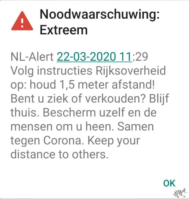 NL-Alert om COVID-19