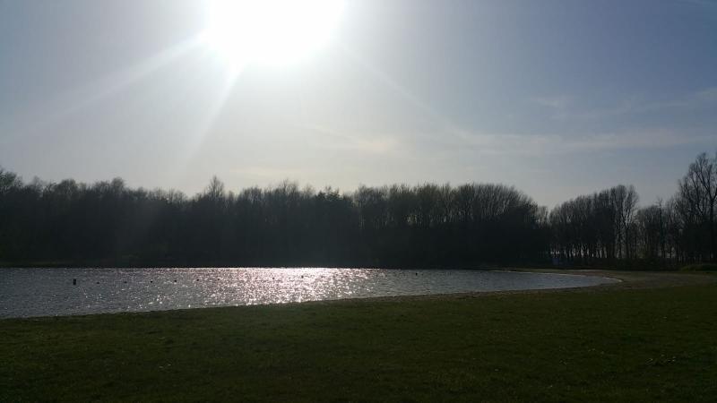Buiten bij het meer (Foto: Interpretatie)