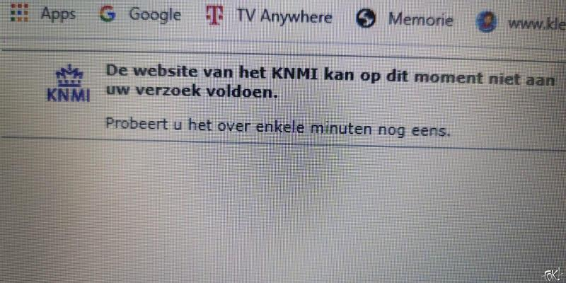 Website KNMI (Foto: FOK!)