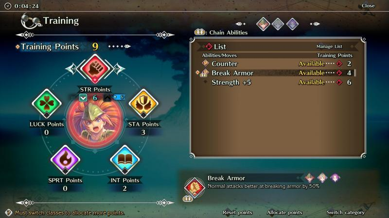 Trials of Mana - Stats (Foto: Square Enix)