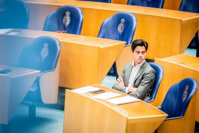We zien hier Rob Jetten tijdens een debat in de Tweede Kamer, wat is hier gaande? (Pro Shots / Koen Laureij)