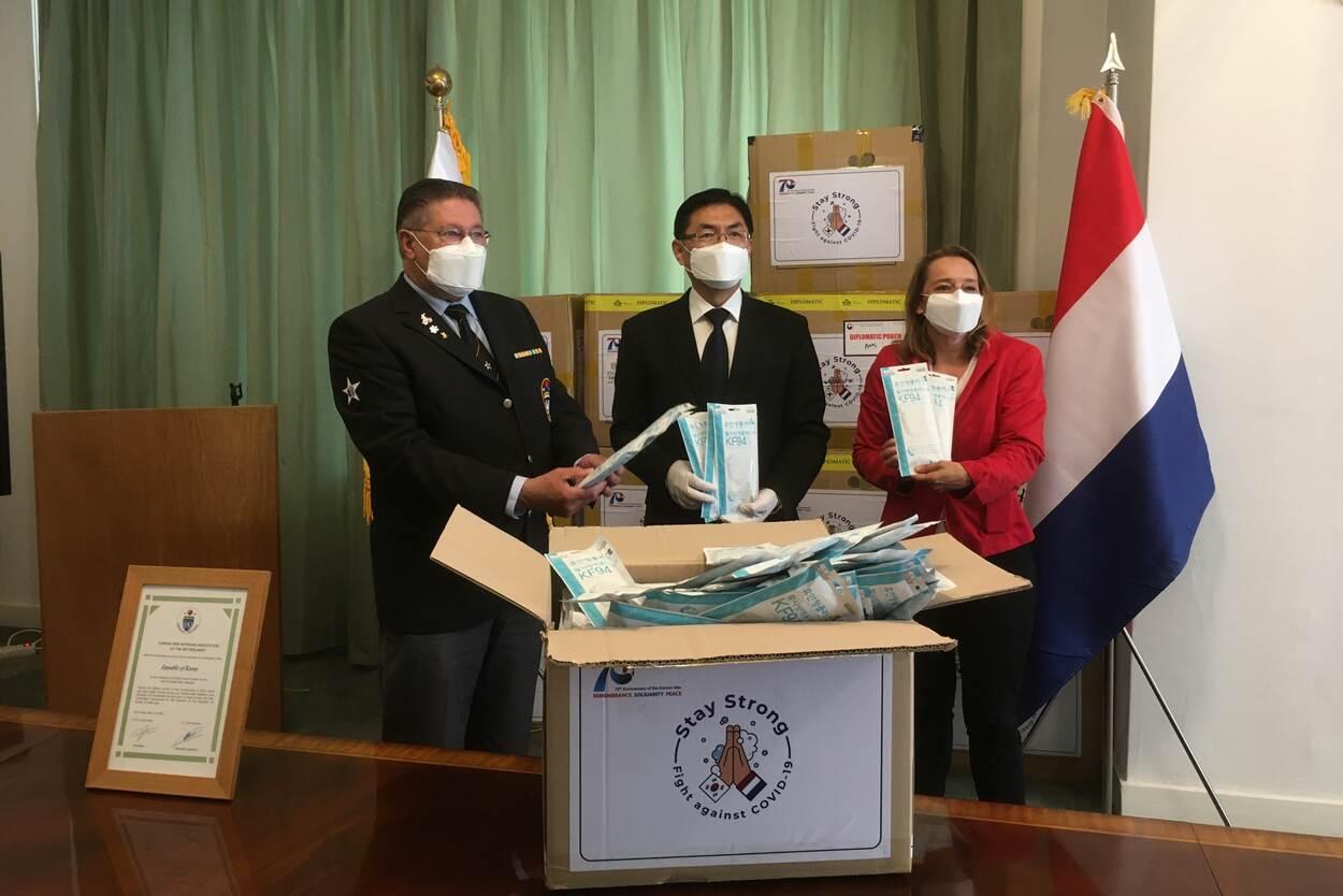 Zuid-Korea bedankt veteranen met mondkapjes (foto: Ministerie van Defensie)