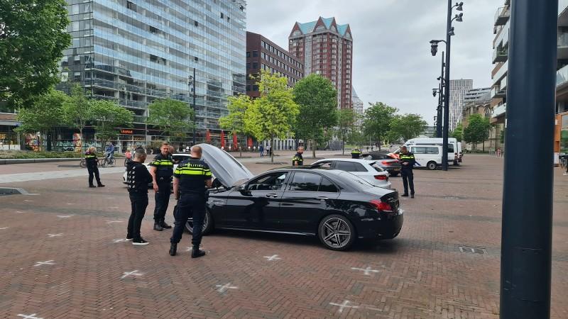 Patseraanpak op de Meent in Rotterdam (Afbeelding: Politie)