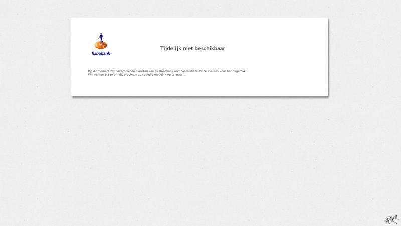 Rabobank onbereikbaar  (Foto: Screenshot FOK!)
