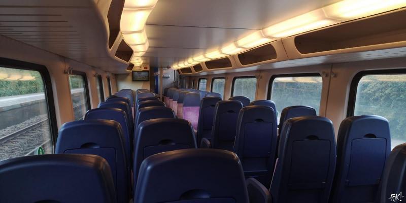 Een lege trein (Foto: FOK!)