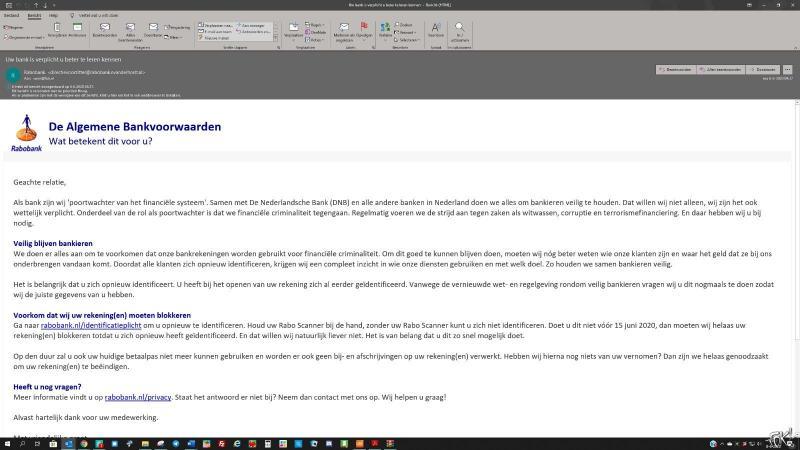 Rabobank waarschuwt voor phishing  (Foto: FOK!)