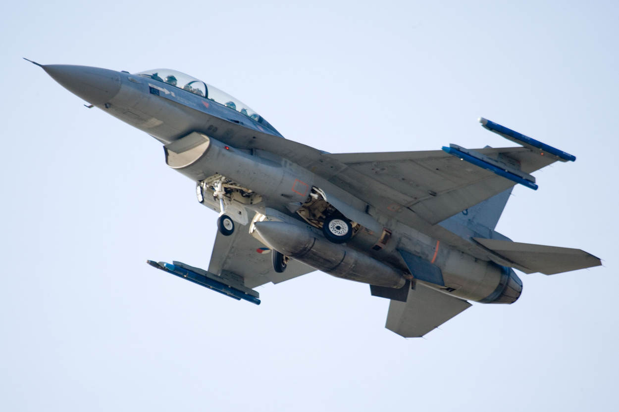 Archieffoto van een F-16 (foto: Ministerie van Defensie)