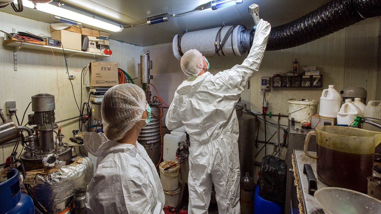 Ontmanteling drugslab (foto: politie)