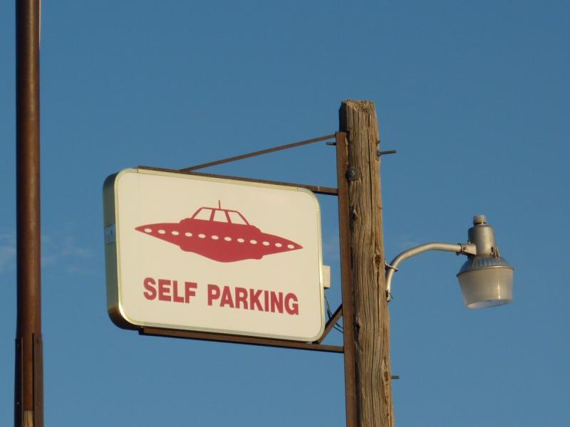 De UFO-parkeerplaats (Foto: pxhere)