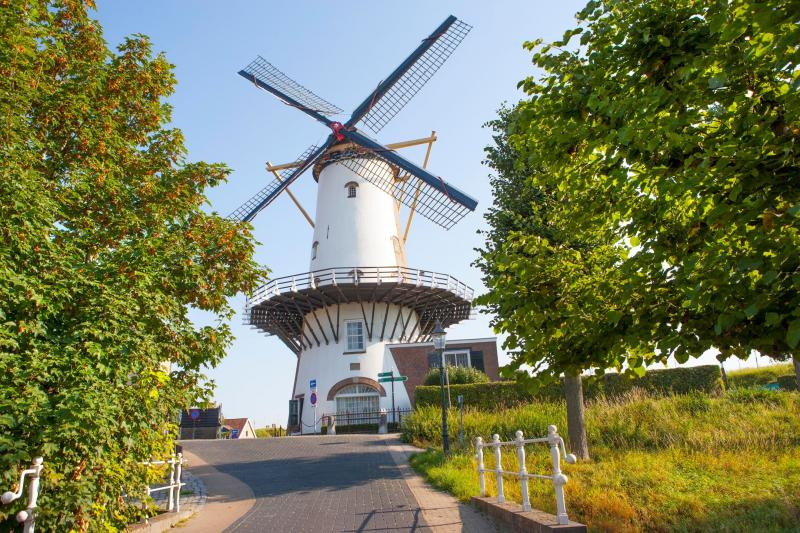 Machtige molen in Willemsstad  (Foto: Funda)