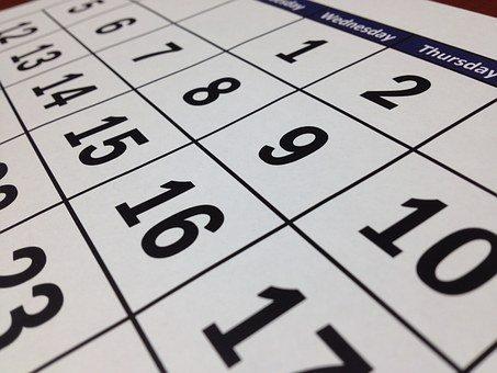 De kalender voor vandaag is leeg. (Foto: Pixabay)