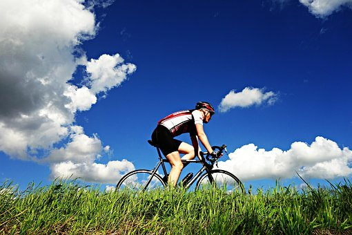 Zomaar een wielrennen. (Foto: Pixabay)