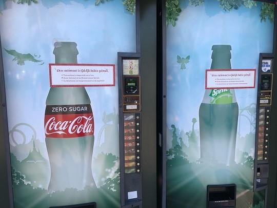 De automaten na aanpassing: minder sprookjesachtig, maar nog steeds aantrekkelijk voor kinderen. Foto van foodwatch op 23/07/2020 (Foto: foodwatch)