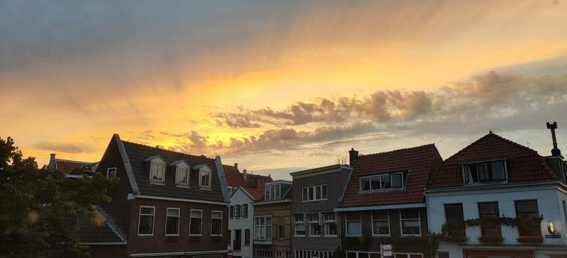 De zon ging fraai onder (Foto: Stephan5)