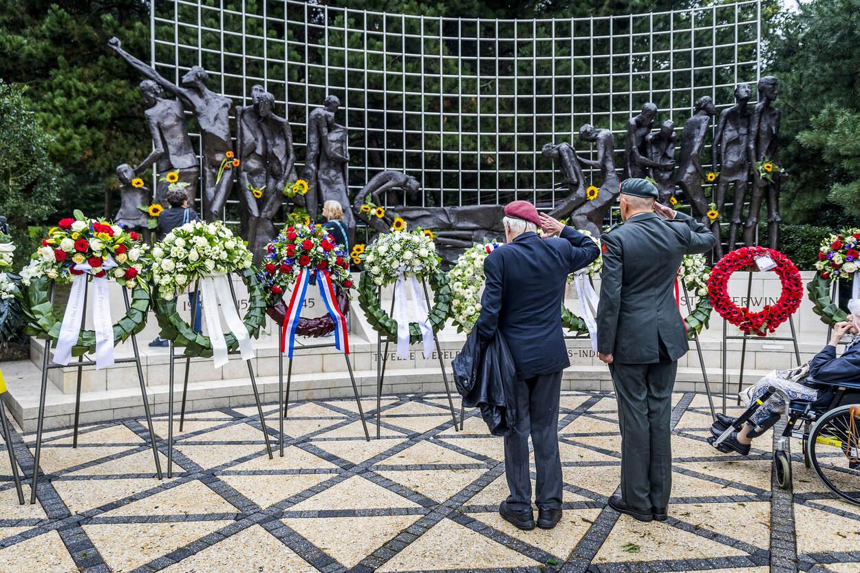 Archieffoto van de herdenking (Foto: Ministerie van Defensie)