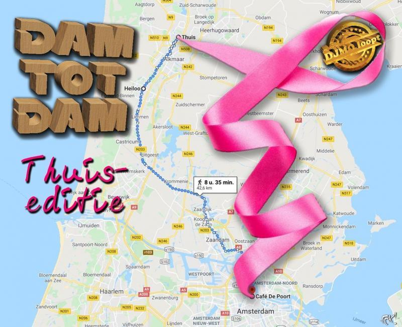 Dam tot Dam wandeltocht thuiseditie  (Foto: FOK!/ToT )