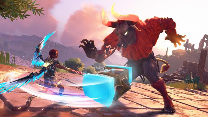 Immortal Fenyx Rising Minotaur combat