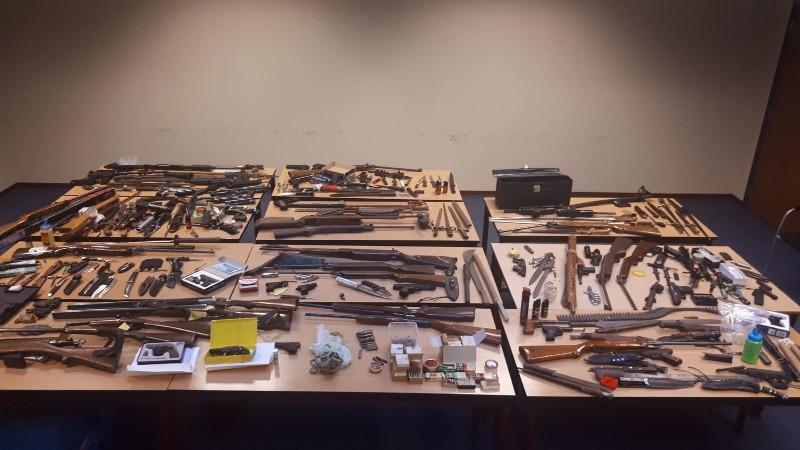 246 wapens ingeleverd bij Limburgse politie (Foto: Politie Limburg)