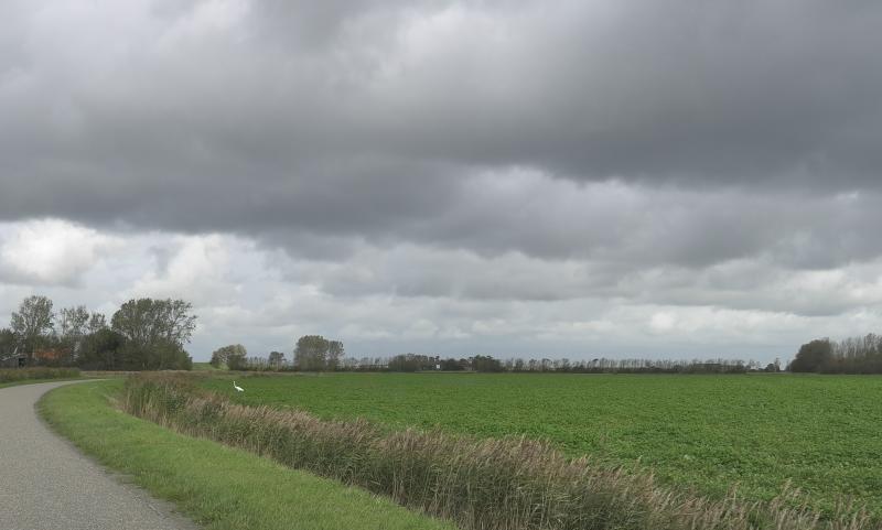 Dreigende luchten in Zeeland (Foto: Scherpschutter)