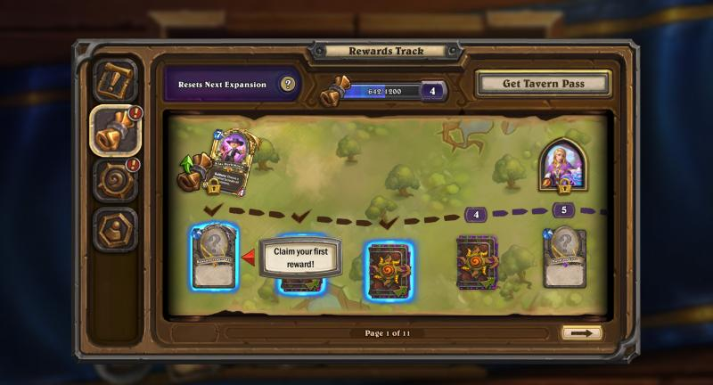 Hearthstone Rewards Track