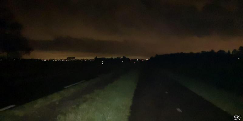 Foto van vannacht 3:30 gemaakt door een stoere DJMO die nu bezig is aan 80 km wandelen