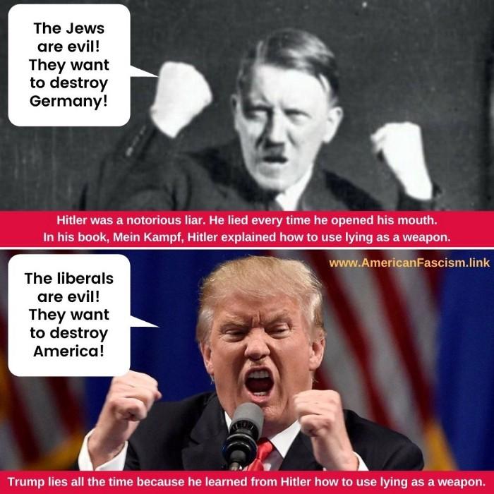 Trump Hitler vergelijking