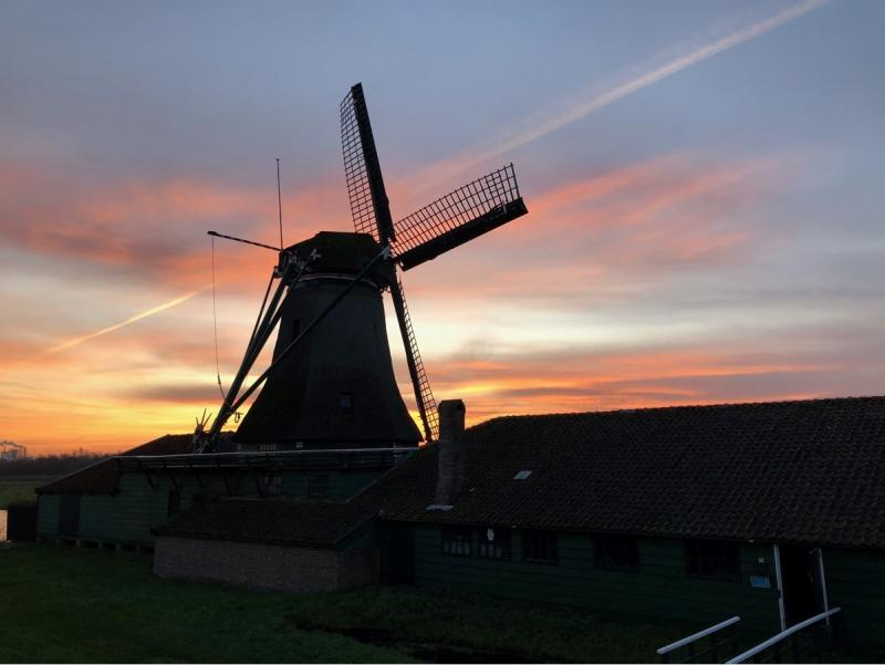 "Charged was in Westzaan bij molen ""de Schoolmeester"""