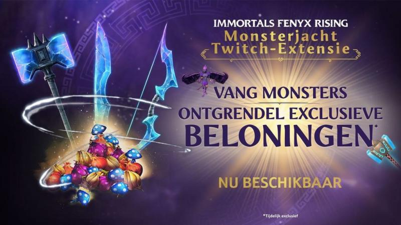 Twitch-extensie Immortals Fenyx Rising