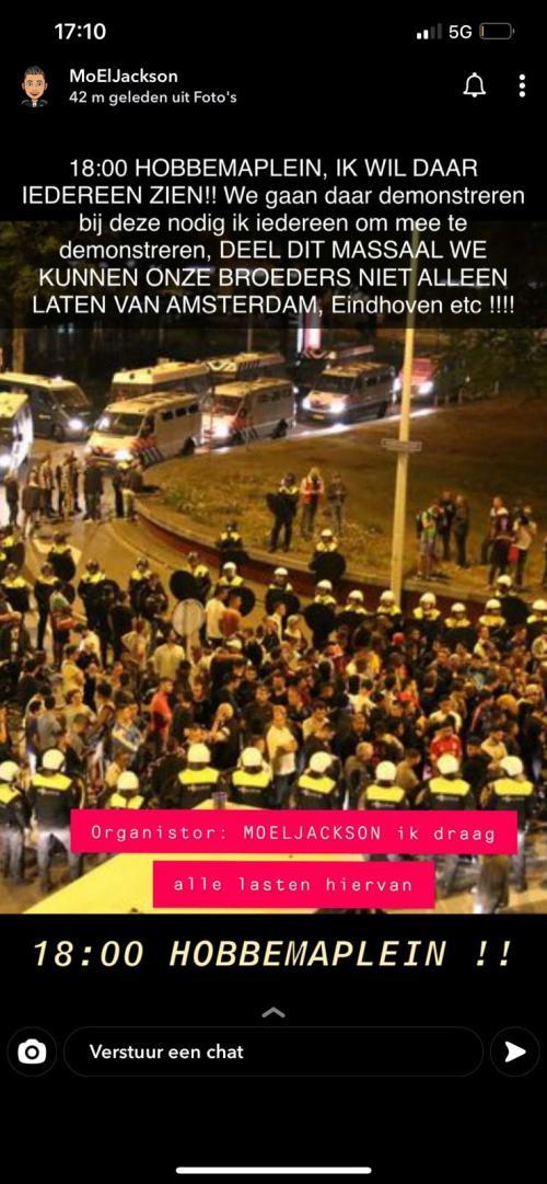 Oproep demonstratie Hobbemaplein Den Haag 24 januari