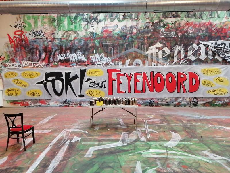 FOK! steunt Feyenoord (Foto: De Feijenoorder)