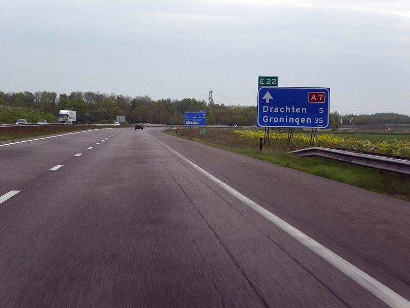 De A7 is de langste snelweg van Nederland (WikiCommons/Friesland2k5 at Dutch Wikipedia)