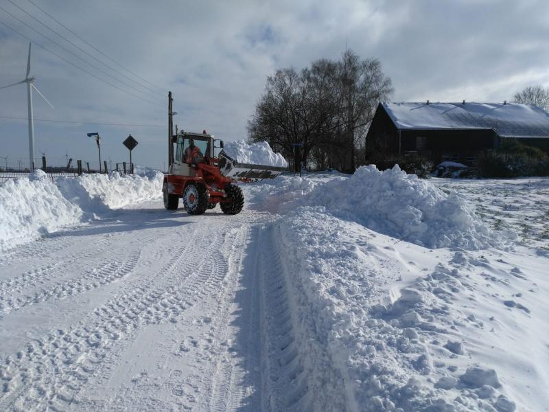 Er werd afgelopen week veel sneeuw geruimd (Foto: qltel)