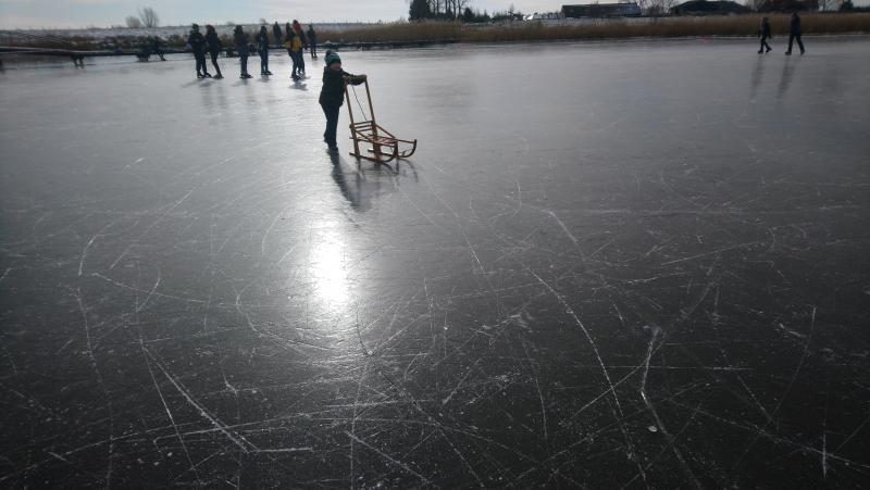 Paulus-de-crosskabouter crosste afgelopen weekend over het ijs.