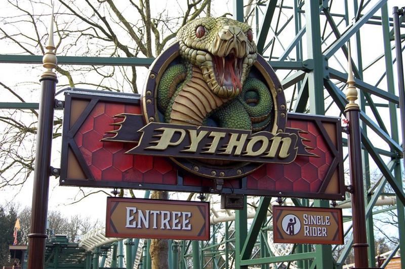 Het nutteloze feitje van de dag: de Python is geen python (Bron foto: Eftepedia)